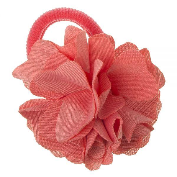 Coletero con flor de lycra® mediana 6 cm Coral