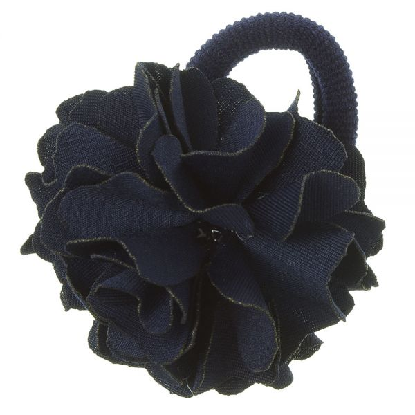 Coletero con flor de lycra® mediana 6 cm Azul Marino