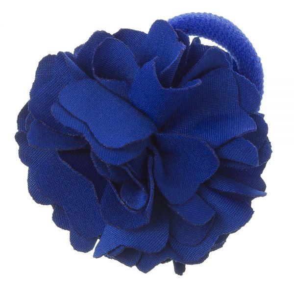 Coletero con flor de lycra® mediana 6 cm Azulón