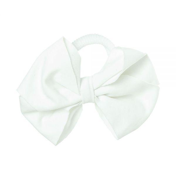 Lazo de Lycra® 8cm con coletero Blanco