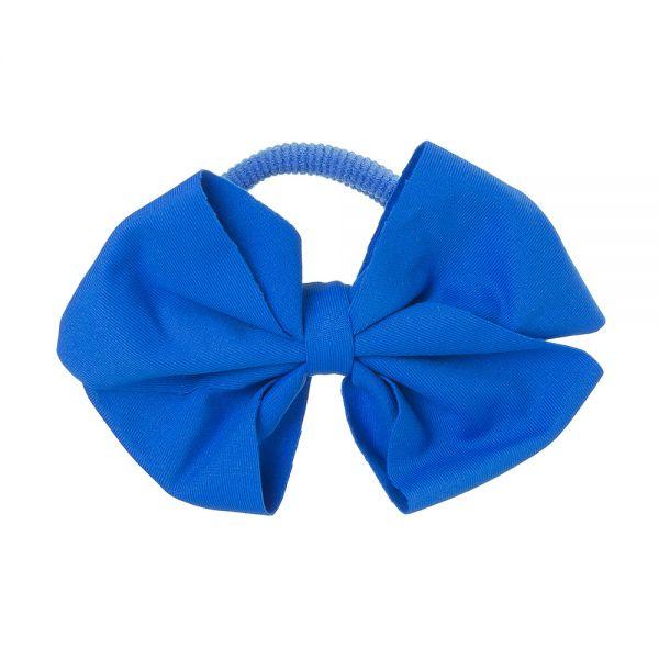 Lazo de Lycra® 8cm con coletero Azul Cobalto