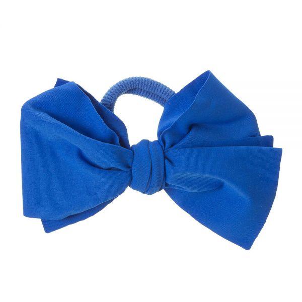 Lazo de Lycra® 10cm con coletero Azul Cobalto