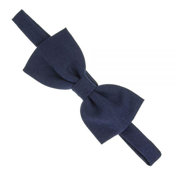 Pajarita para niño de lino Azul Marino
