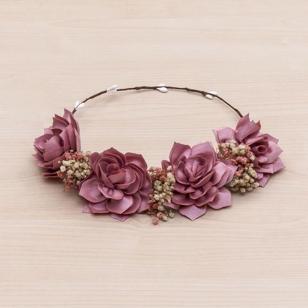 Corona floral de nenúfares Flor 04-Rosa Francia