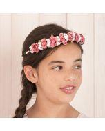 Corona tiara flores y campanillas Jimena