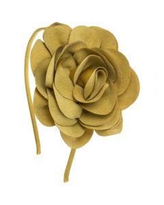 Diadema con maxi flor de antelina