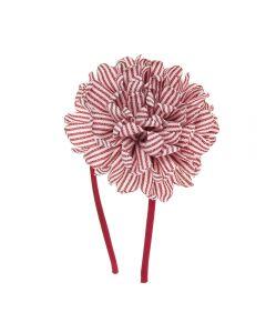 Diadema con gran flor 11 cm. de raya marinera