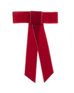 Pasador con maxi lazo de terciopelo handmade in Spain