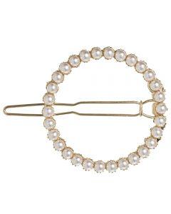 Horquilla con aro de perlas