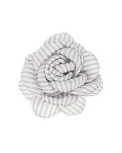 Flor con raya marinera 6,5 cm. sobre clip pico-pato