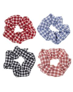 Scrunchie estampado vichy