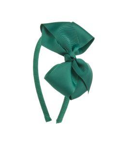 Diadema con lazo 11,5 cm. de cinta grosgrain con bucles