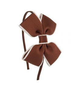 Diadema con lazo mariposa de cinta y ribete