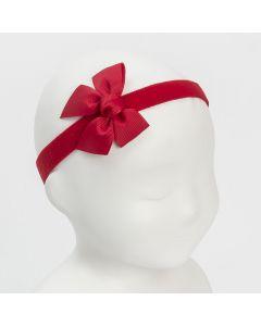Lazo 6,5 x 6 cm. de grosgrain sobre cinta para el pelo