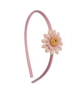 Diadema flor scrapbook Rosa Francia