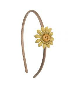 Diadema con flor scrapbook style