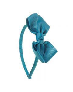 Diadema con lazo mariposa de cinta de grosgrain tamaño 11 cm.