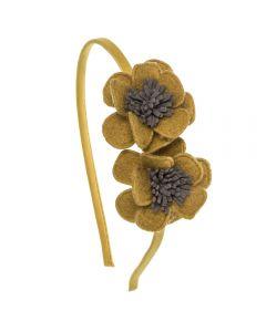Diadema con 2 flores de fieltro n.71