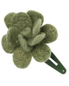 Coletero con flor de lana
