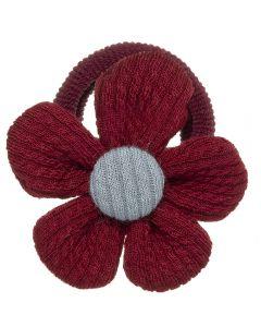 Coletero con flor tejida con tela de canalé n.81