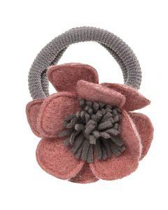 Coletero con flor de fieltro n.71 handmade in Spain