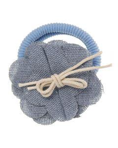 Coletero con flor de lino y lacito