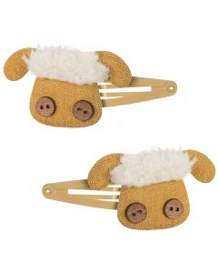 Pack de 2 clips para el pelo de ovejitas lanudas