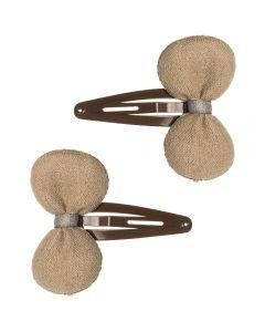 Pack de 2 clips para el pelo con lacito de antelina