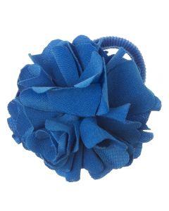 Coletero con flor de lycra® mediana 6 cm Azul Cobalto