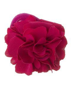 Coletero con flor de lycra® mediana 6 cm Rosa Fucsia