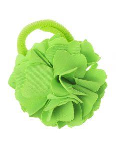 Coletero con flor de lycra® mediana 6 cm Verde Pistacho