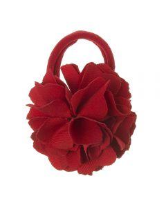 Coletero con flor de lycra® mediana 6 cm Rojo