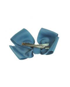 Clip pico-pato con lazo mariposa de cinta de grosgrain tamaño 11 cm.
