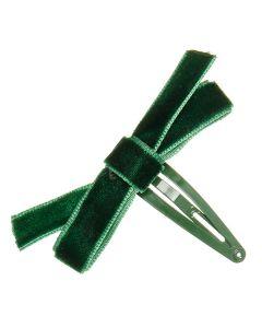 Clip para el pelo con lazo zapatero con cinta de terciopelo