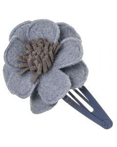 Clip para el pelo con flor de fieltro n.71 handmade in Spain