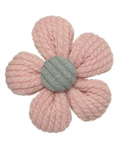 Clip pico-pato 4 cm. Con flor de canalé n.81