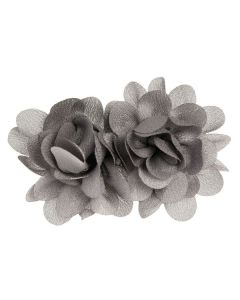 Pequeño tocado con dos flores de satén