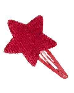 Clip para el pelo con estrella de micro pana
