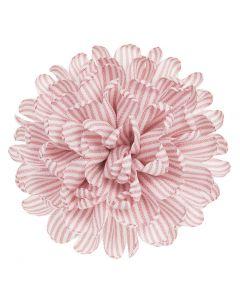 Gran flor 11 cm. de raya marinera sobre clip
