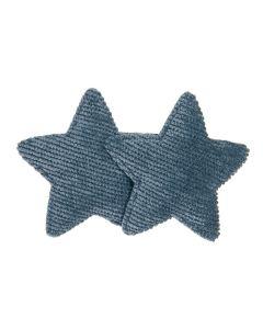 Clip para el pelo con 2 estrellas de micro pana