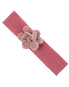 Turbante con flor de lana 1-4 años