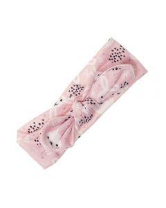 Turbante recien nacido estampado rosa
