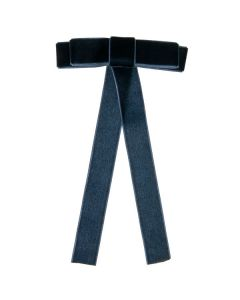 Pasador con lazo zapatero de terciopelo de 10 cm. con caída