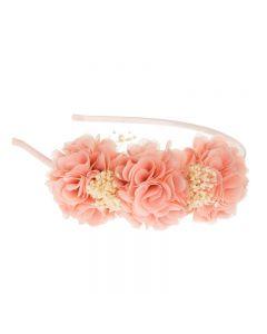 Diadema con 3 flores y flor seca