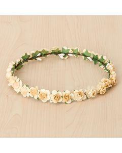 Corona con pequeñas rosas al color