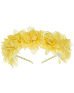 Diadema con flores de gasa