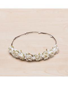 Corona tiara de flores y campanillas Jimena