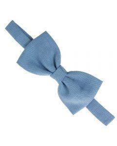 Pajarita para niño de lino Azul Francia
