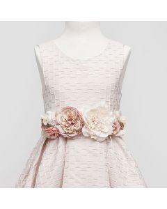 fajin terciopelo con grandes flores rosadas