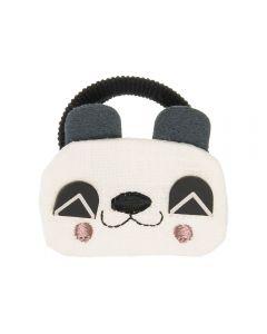 Coletero con osito panda de tela